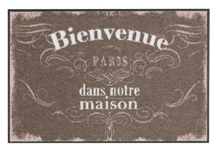Bienvenue <br> Vintage Marron  <br> by Salonlöwe <br> 50 x 75 cm